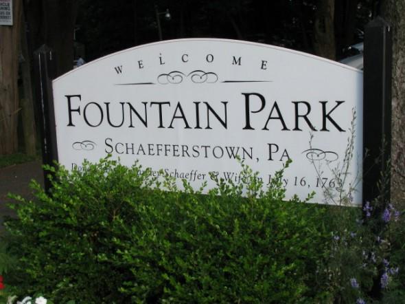 Singing at Fountain Park