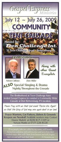 Gospel Express hosted by Teen Challenge in Rehrersburg, PA