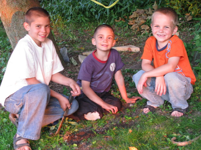 (L to R) Brian's two oldest boys and Guy Petersheim (Daryl's oldest son)
