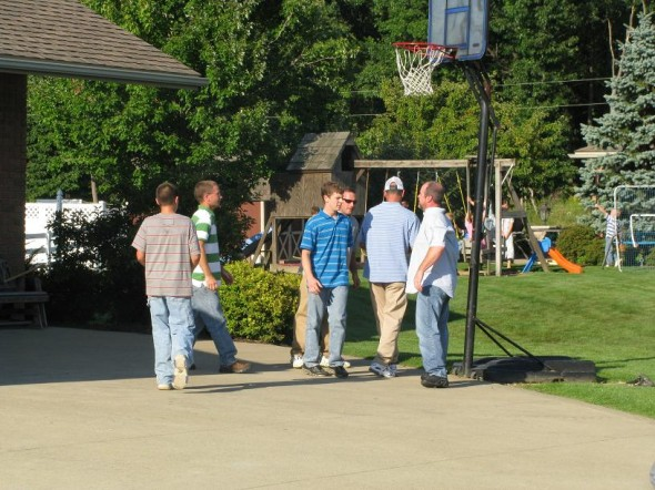 Basketball at Joe Miller's House