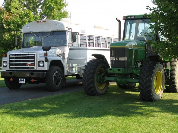 The Bus vs. The John Deere