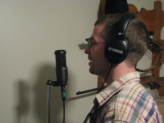 Daryl recording down in the basement of his house.