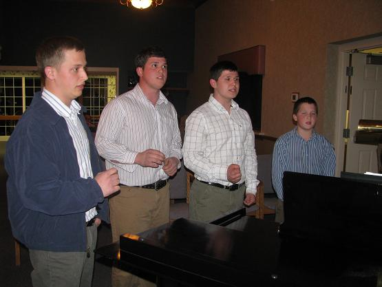 These brothers attended the Pleasantview program, and sang to us afterward.