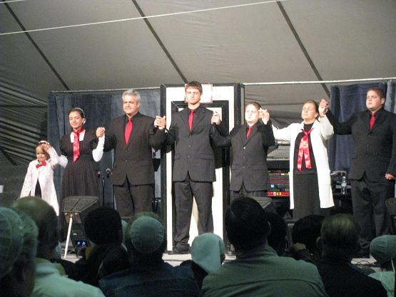 """Dave Miller and his family performed the """"Red Tie Resort""""--an excellent message about the requirement of Jesus' blood to enter Heaven."""