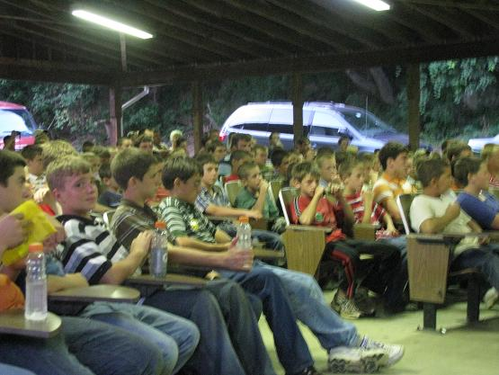 Keystone Boys Camp is held at Promised Land Camp--approximately 150 boys attended.