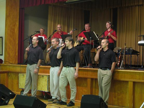 "Wendell's group, The Keystone Mountain Way, backed up the Garment of Praise singing ""I'll Fly Away"", by Brian's request."