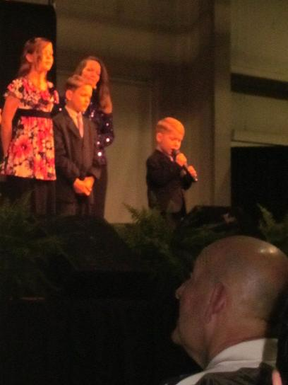 "The Allen family's youngest son (age 4) sang ""Amazing Grace"" like a pro."