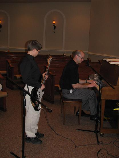 Bryce is learning to play bass guitar for the best teacher you could ask for--his dad!
