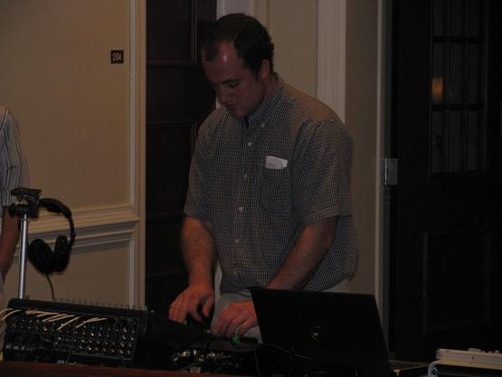 Mr. Dave Nolt--our sound guy for the night, also teaches at Fairview Christian School.