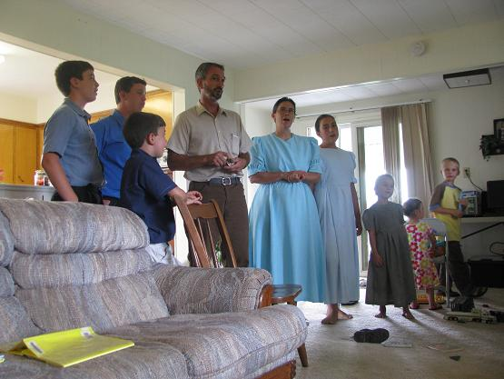 Nate and Rose blessed us with their family singing for us!