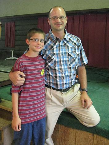 An extra pull for the Garment of Praise this year: Brian's son, Bryce, one of the arrows campers.