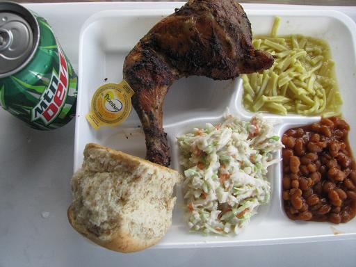 Yum! Danny's chicken BBQ lunch, well-deserved! and very delicious!